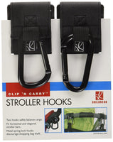 JL Childress Clip 'N Carry Stroller Hooks, Black