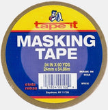 Tape it WPM100 General Purpose Masking Tape, 5 mil Thick x 60' Length x 15/16 Width, Natural