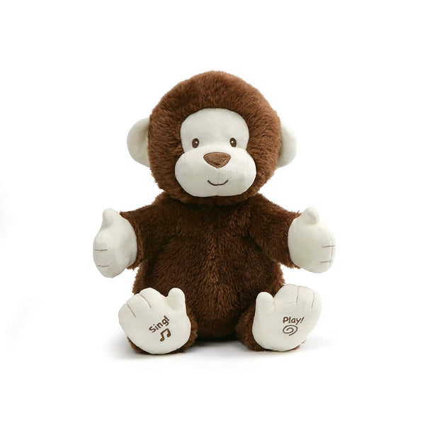 GUND Animated Clappy Monkey Singing and Clapping Plush Stuffed Animal, Brown, 12""