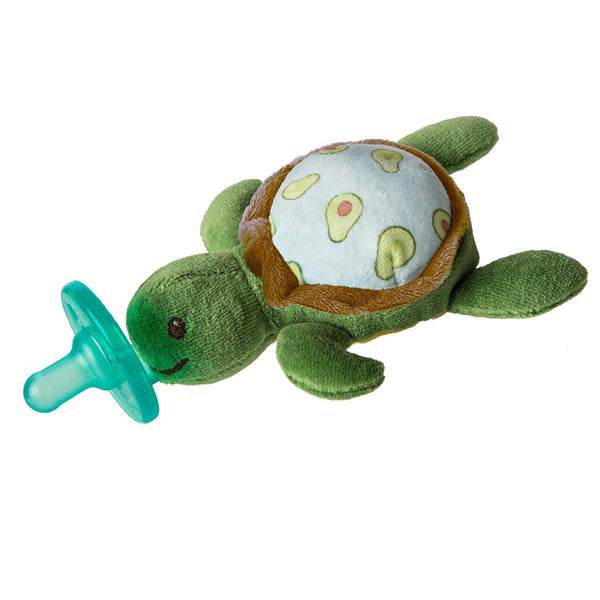 Mary Meyer Wubbanub Soft Toy & Infant Pacifier, Yummy Avocado Turtle