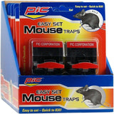 PIC Reusable Plastic Mouse Trap, 2-Pack