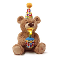 GUND Animated Happy Birthday Singing Plush Teddy Bear