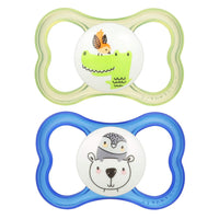 "MAM Sensitive Skin Pacifiers,6+ Months, ""Air"" Design Collection, Boy, 2-Count"