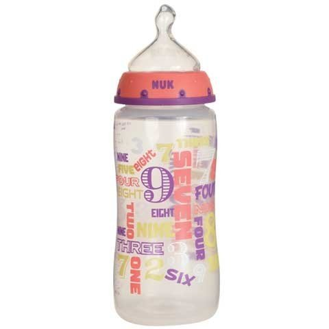 NUK Babytalk Orthodontic Bottle 0+ month (colors may vary.)