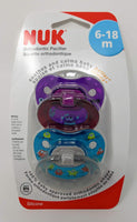 NUK Creatures Pacifier, 6-18 Months, Purple/Teal