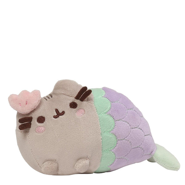 GUND Pusheen Mermaid Spiral Shell Cat Plush Stuffed Animal, Multicolor, 7""