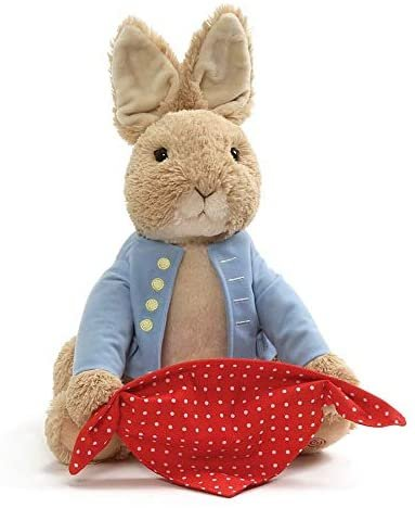 "GUND Peter Rabbit Peek-A-Boo Plush Animated Toy, 10"", Multicolor Collection"