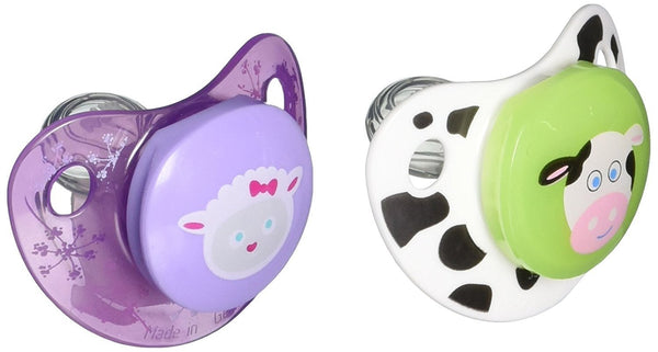 NUK Advanced Clear Shield Orthodontic Pacifier, Assorted Color 2 ea(0-6 months)