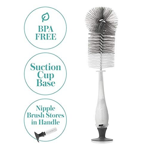evenflo 2 in 1 Bottle Brush with Nipple Brush/Assorted Colors