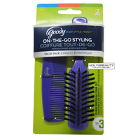 Goody On-The-Go Styling, Hair Brush and Comb Set- Pick your color