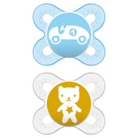 MAM Pacifiers, Newborn Pacifier, Best Pacifier for Breastfed Babies, 'Start' Design Collection, Boy