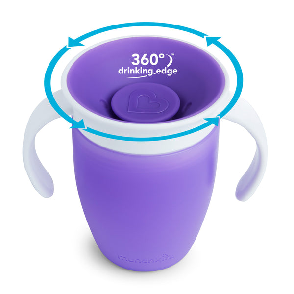 Munchkin Miracle 360 Trainer Cup, 7 Ounce 1-Pack - Purple