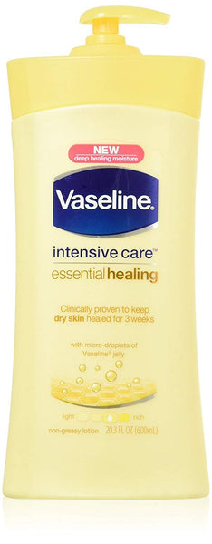 Vaseline Intensive Care Essential Healing Lotion 20.3 Fl Oz (600 Ml) (Pack of 2)