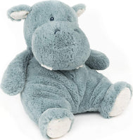 GUND Baby Oh So Snuggly Hippo Large Plush Stuffed Animal, Teal Blue and Cream, 12.5""