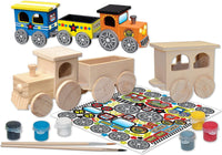 MasterPieces Works of Ahhh Real Wood Large Acrylic Paint & Craft Kit,, Mom's Choice Award, for Ages 4+