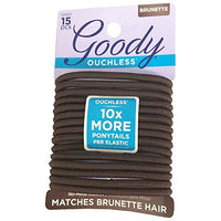 Goody WoMens Ouchless Braided Elastics, Brown, 15 Count