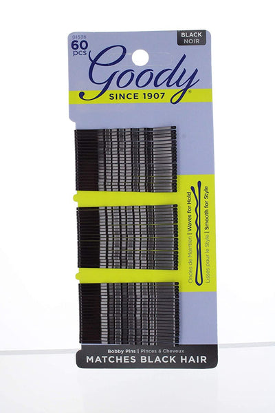 "Goody Bobby Pins, 2"" Black, 60 count"