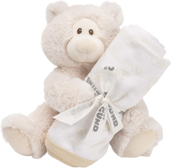 GUND Baby Philbin Teddy Bear Plush with Blanket Gift Set Gender Neutral, Gray, 8""