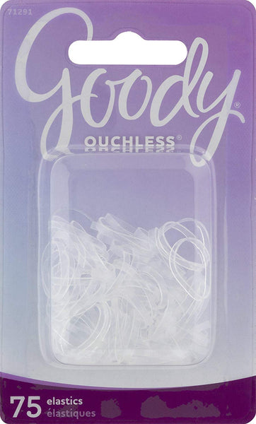 Goody Classics Elastic, Mini Polybands Crystal Clear, 75 Count