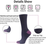 Women's 6-Pack Cushioned Athletic Crew Socks Lightweight for Running,Tennis,Casual