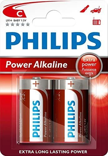 Philips 1.5V Power Alkaline Batteries C