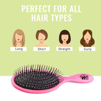 Wet Brush Original Detangler Hair Brush - Punchy Pink - Exclusive Ultra-soft IntelliFlex Bristles - Glide Through Tangles With Ease For All Hair Types - For Women, Men, Wet And Dry Hair-Pack of 2