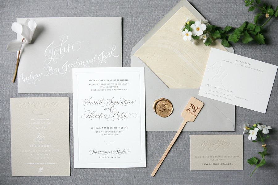 Atlanta Letterpress Wedding Invitations