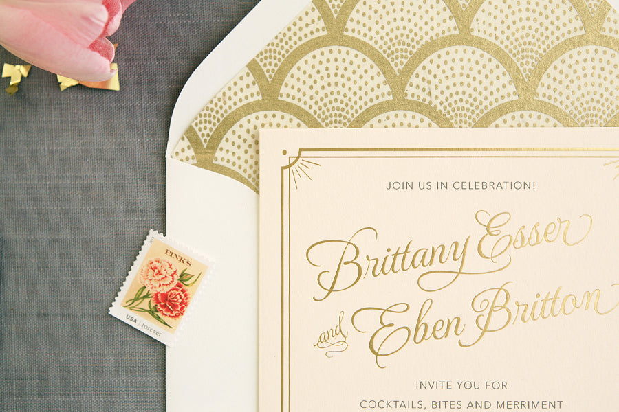 Foil Stamped Wedding Invitations