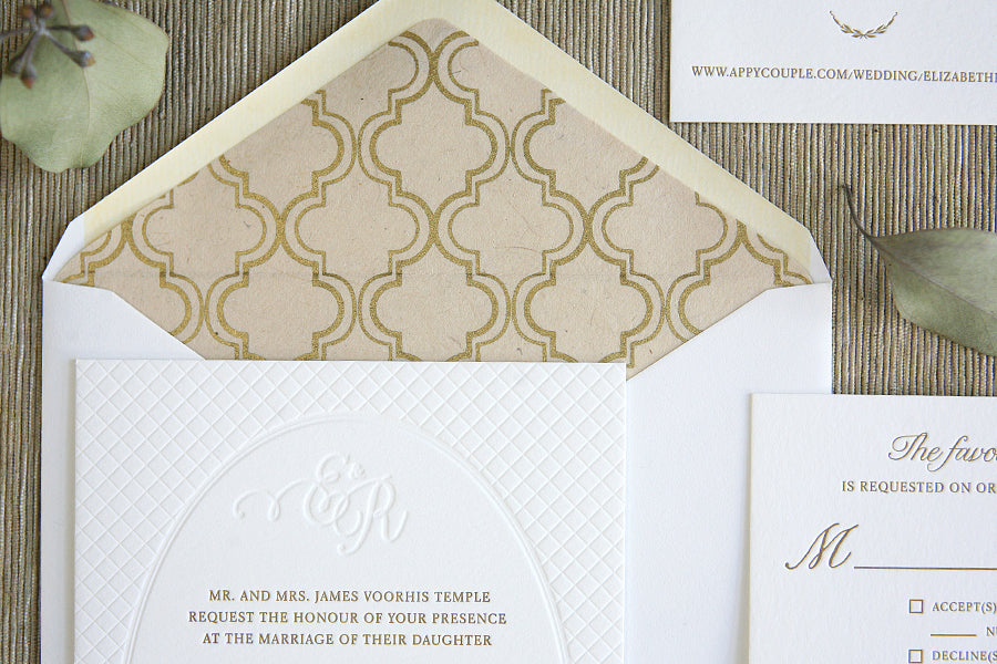 Letterpress Wedding Invitations Garden Wedding