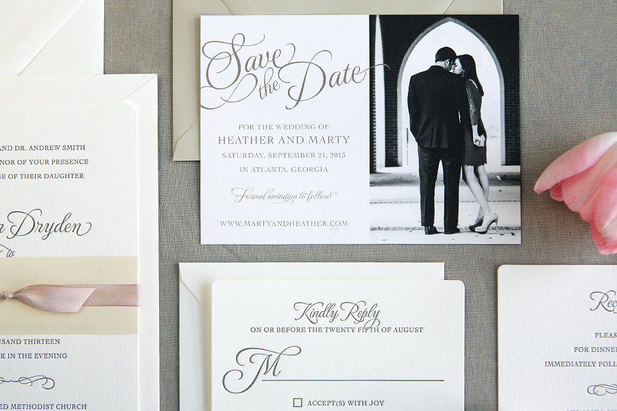 Classic Wedding Invitations and Save the Dates
