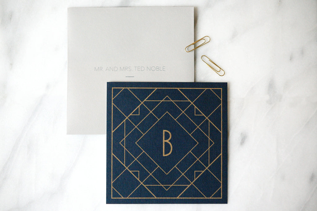 Modern Deco Save the Dates