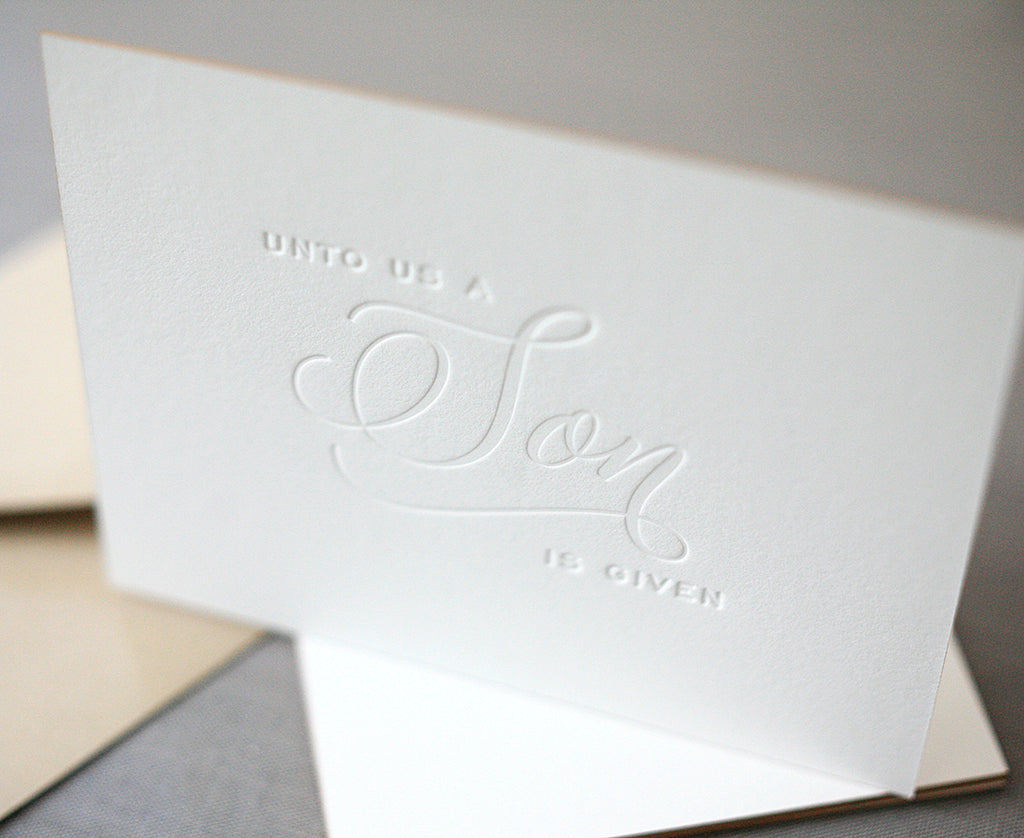 A Son Is Given Letterpress Christmas Cards