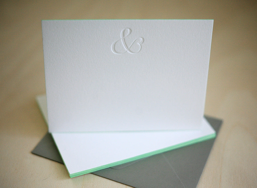 Ampersand Letterpress Edge Painted Notes