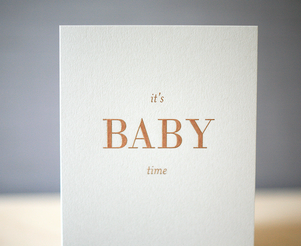 Baby Time Greeting Card