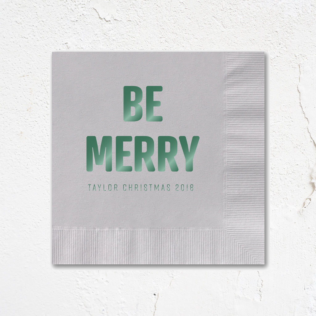 Be Merry Holiday Napkins