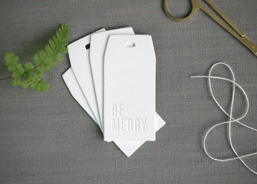 Be Merry Gift Tags