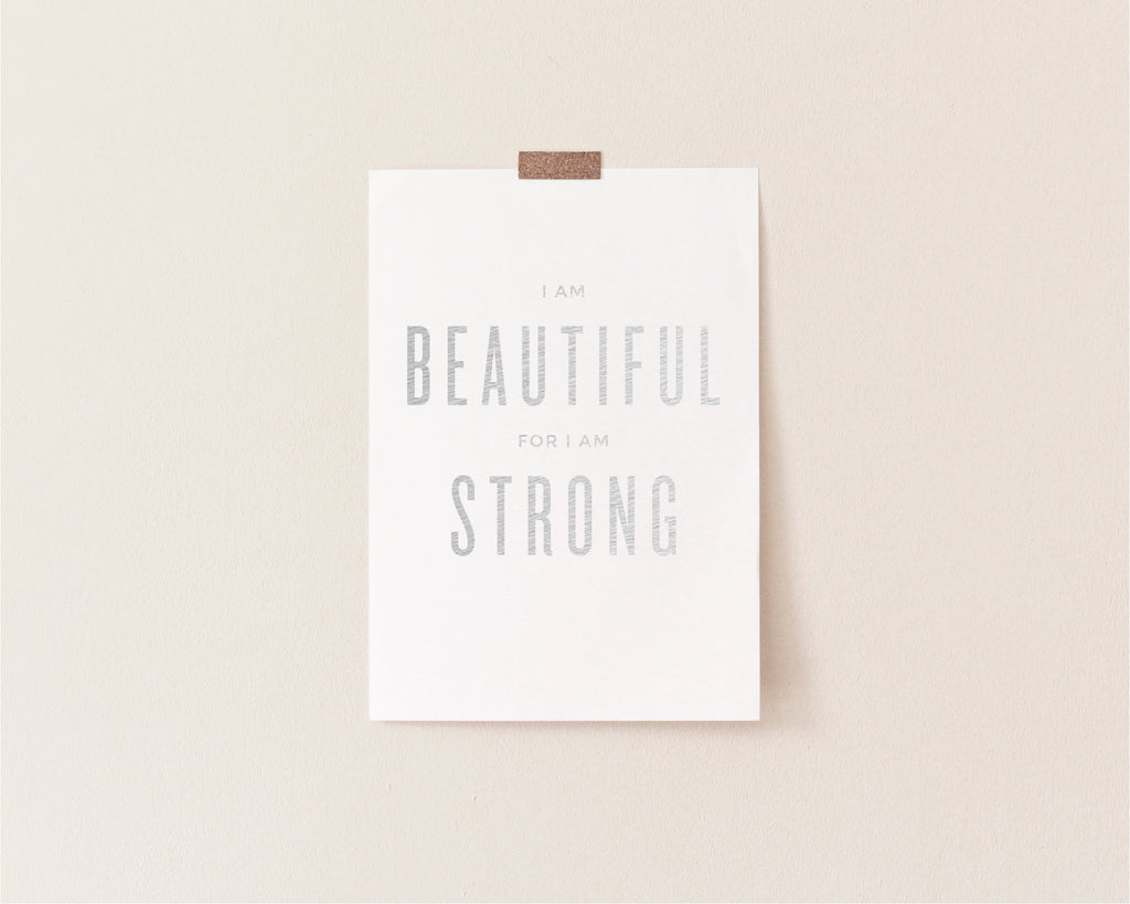 Beautiful Strong Foil Art Print