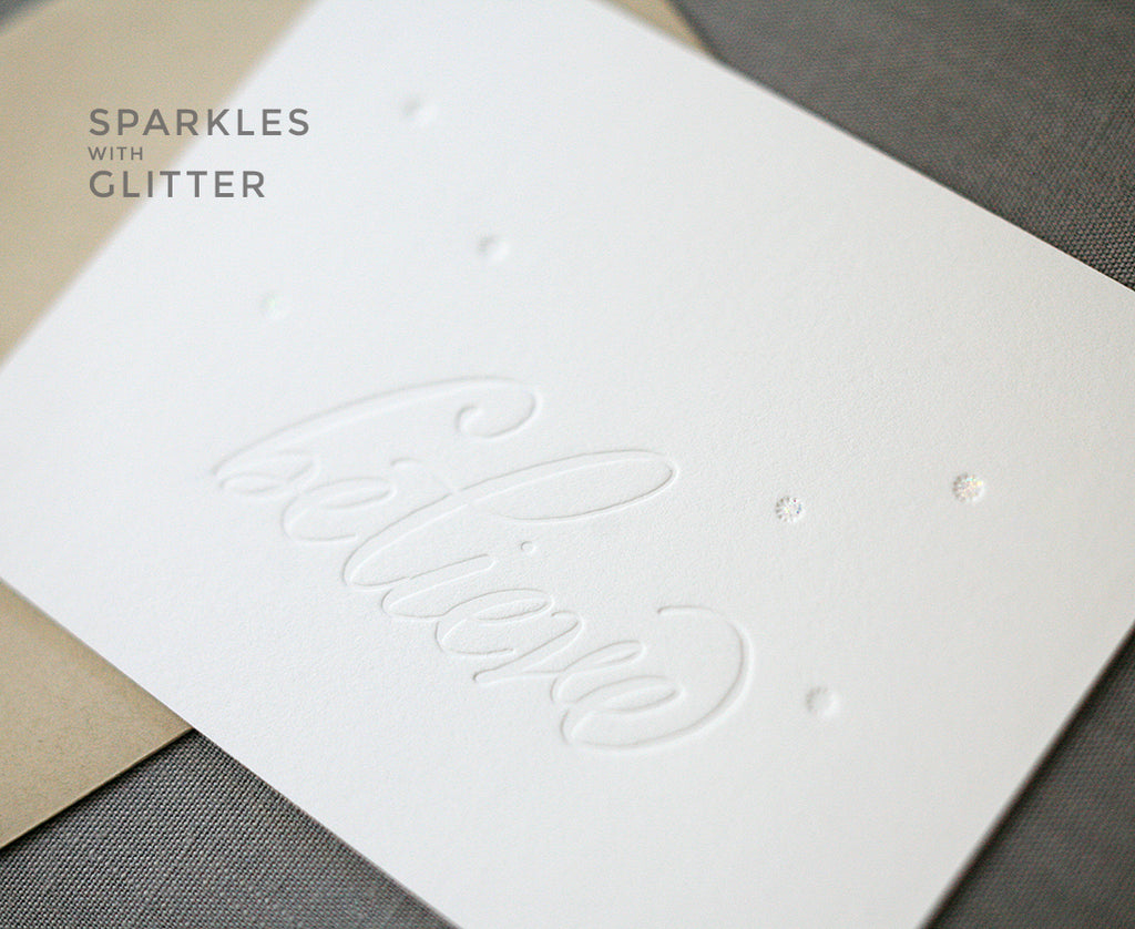 Believe Letterpress Holiday Cards