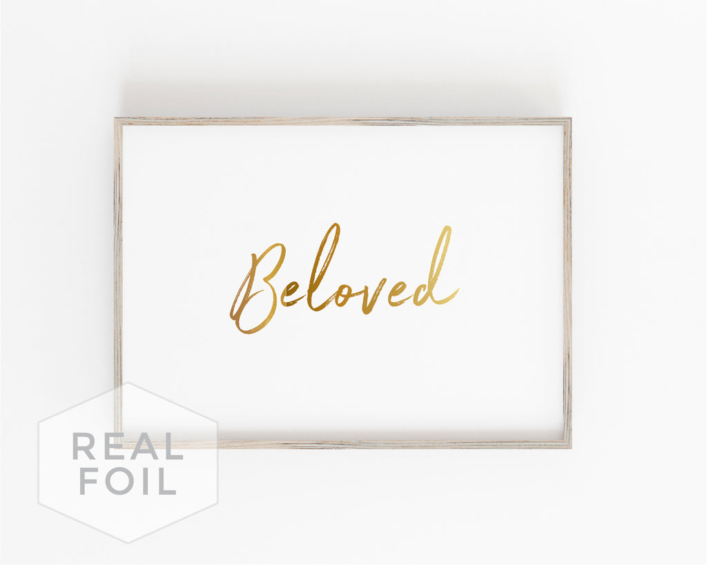 Beloved Foil Art Print