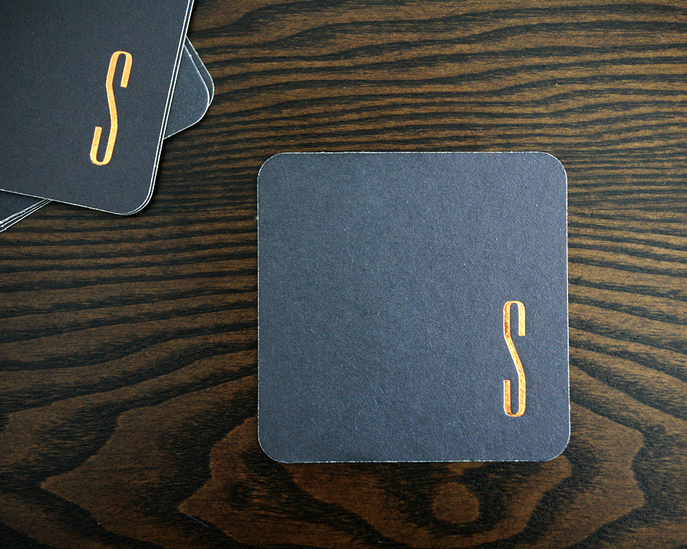 Initial Foil Stamped Coasters
