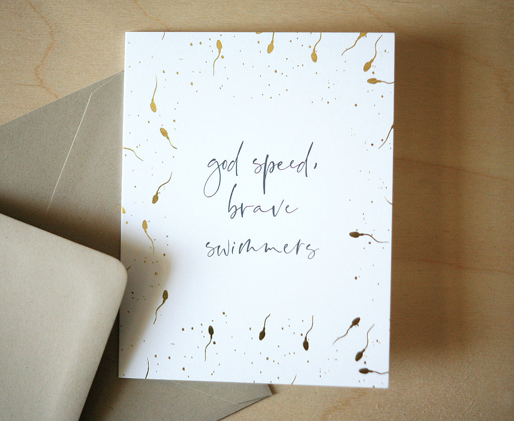 Brave Swimmers Greeting Card