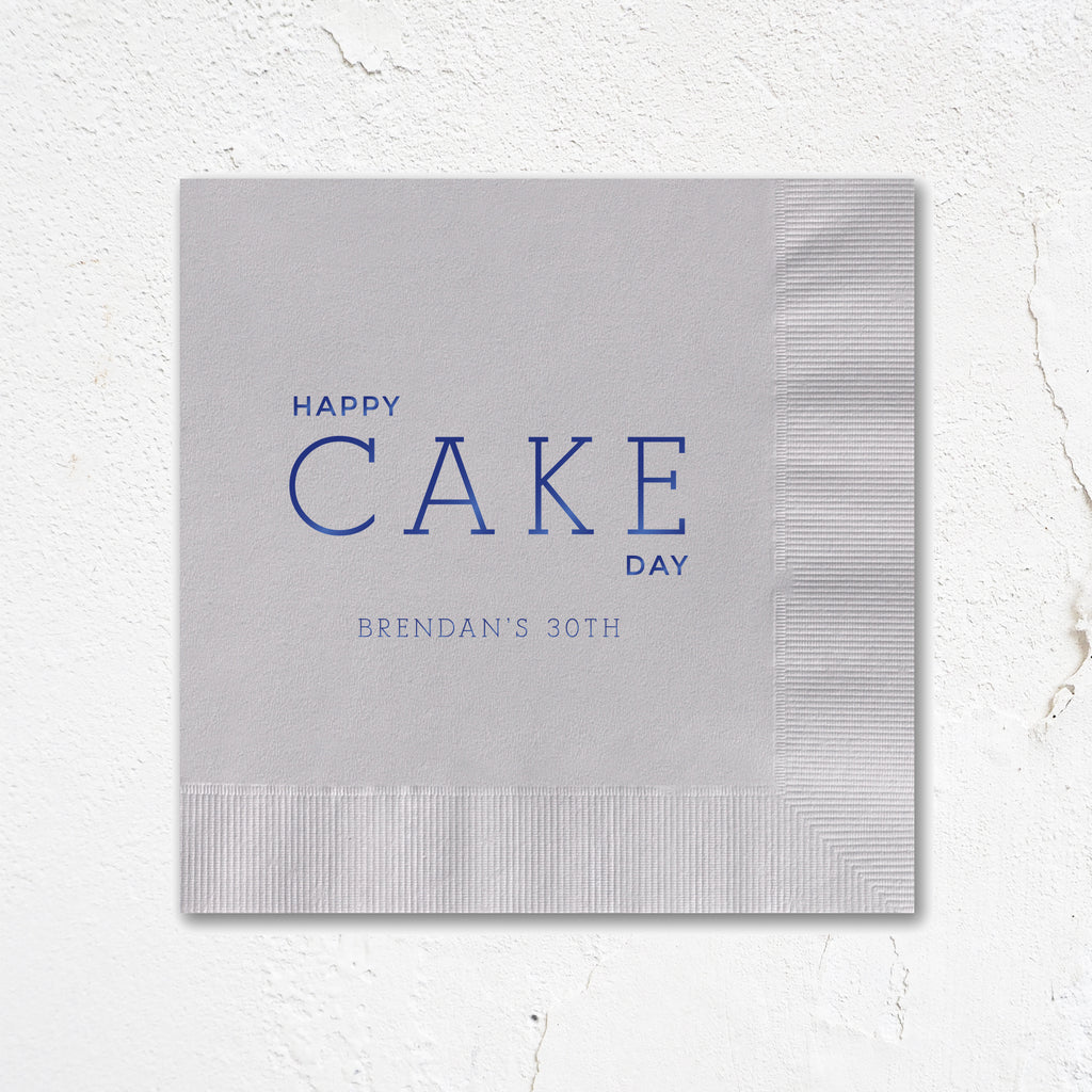 Cake Day Birthday Party Napkins