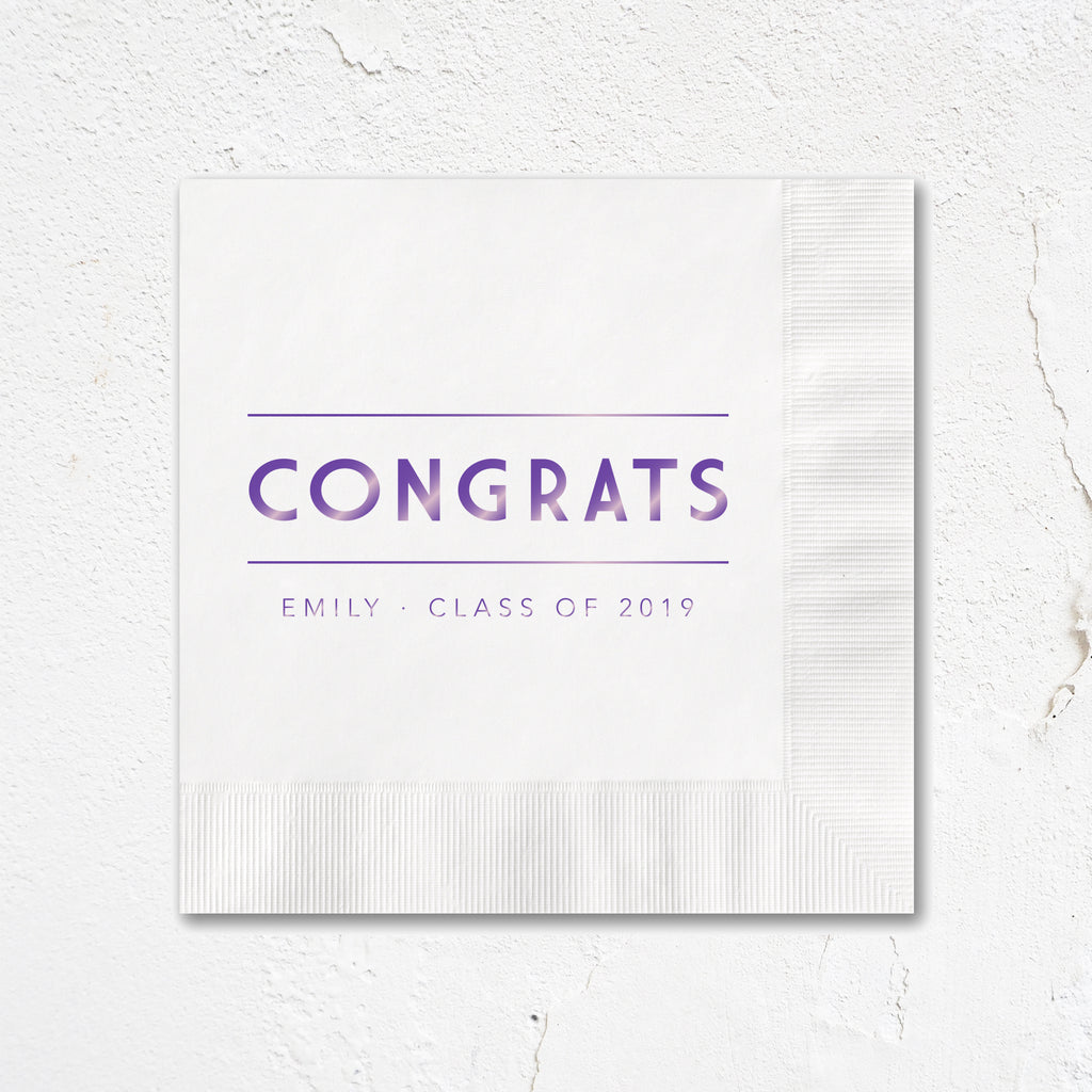 Congrats Deco Party Napkins