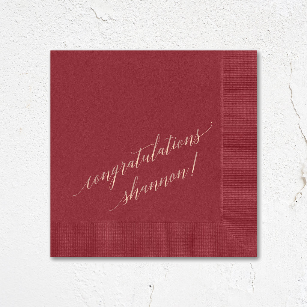 Congratulations Party Napkins