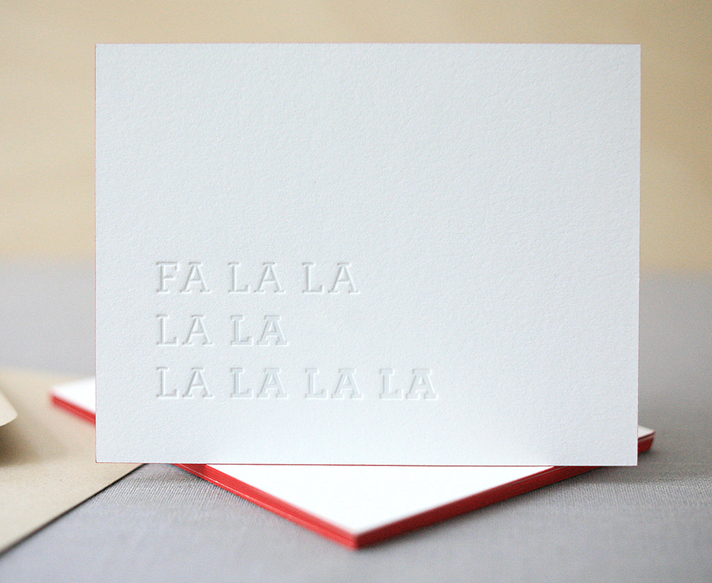 Fa La La La La Letterpress Holiday Cards