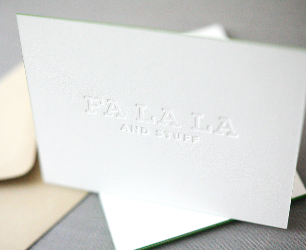 Fa La La and Stuff Letterpress Holiday Cards