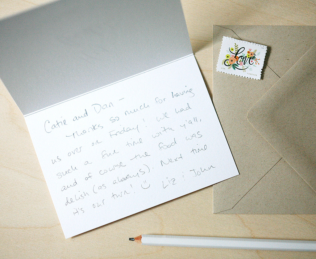 Signature Personalized Letterpress Thank You Notes