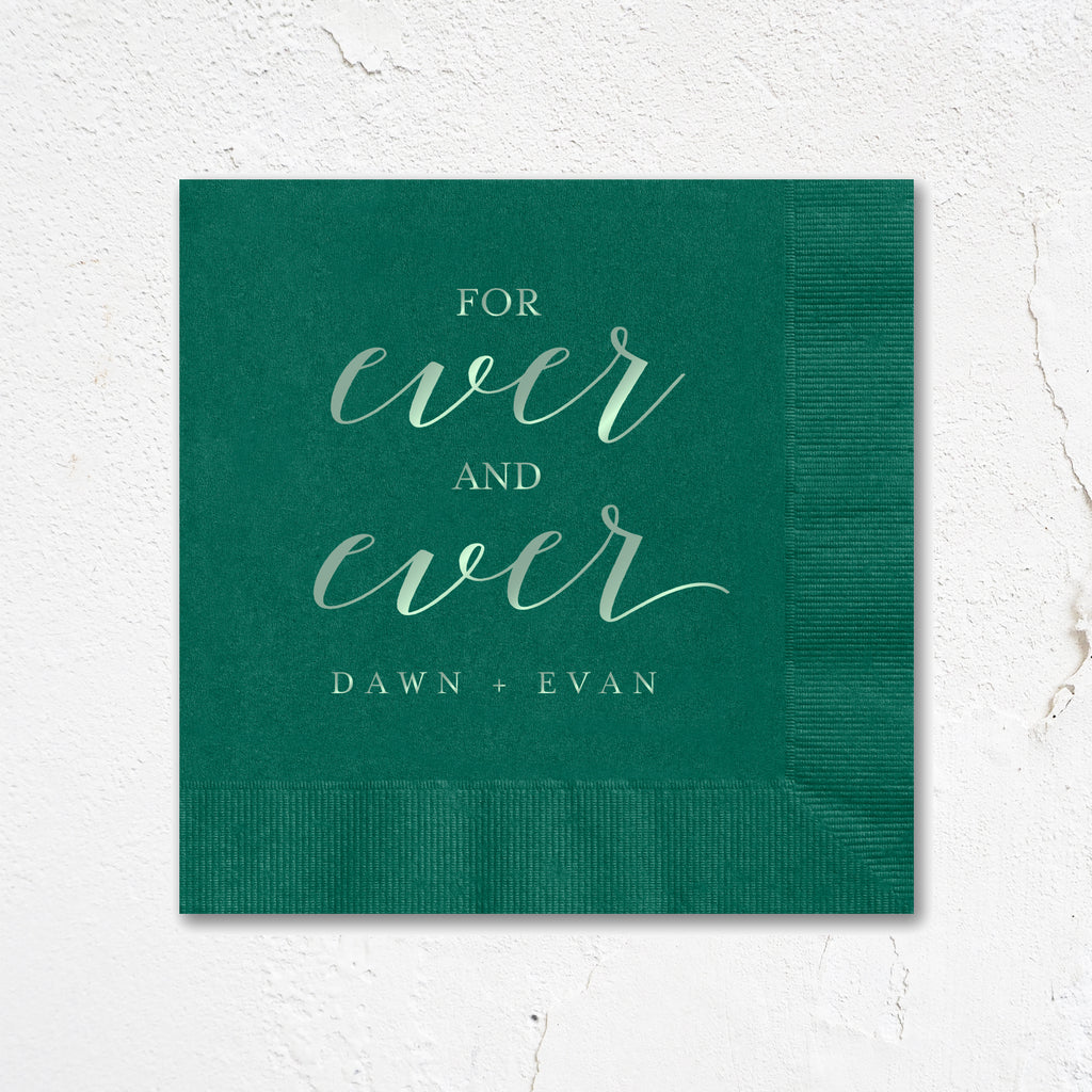 For Ever and Ever Napkins