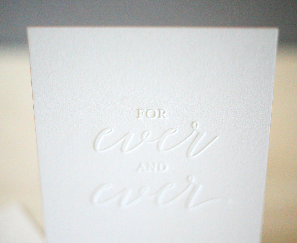 For Ever and Ever Greeting Card
