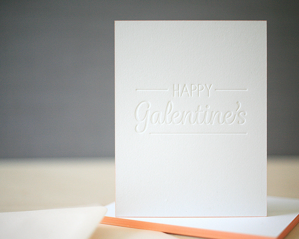 Happy Galentine's Letterpress Valentine's Cards